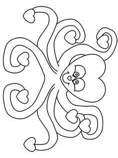 valentines day coloring pages printables printable heartoctopus valentines coloring pages coloringpagebook