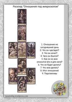 """Photo from album """"Расклады"""" on Yandex. Witch Powers, Tarot Meanings, Herbal Magic, Tarot Spreads, Miniature Fairy Gardens, Occult, Wicca, Witchcraft, Astrology"""
