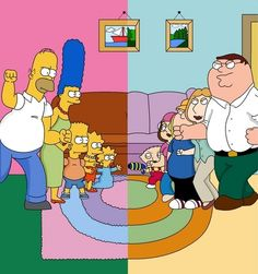 I've finally done it, the Simpsons vs. Here's how I see it: Homer vs. The Simpsons vs. Family Guy Full Episodes, Family Guy Tv, Family Roles, Family Photos, New Funny Jokes, Funny Baby Memes, Funny Stuff, Funny Images, Funny Photos