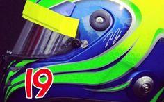 Felipe Massa ha scelto il numero 19 la #foto del nuovo casco di #massa che ha scelto il numero 19! #f1 #f1news #formulaone #formula1 #skysportf1hd #news