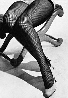 0 Fishnets stockings 1955