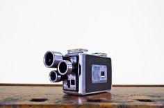 1950s Kodak Brownie Movie Camera, Vintage Kodak Brownie Camera, 3 Turret, 8mm Camera, Turret f/1.9
