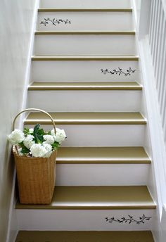 basement steps painted | Painted stairs1