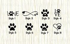 Love paw animal car decal dog love paw word decal paw infinity decal rescue decal adopt decal paw love decal gifts for animal lovers Tatoo Dog, Dog Tattoos, Mini Tattoos, Small Tattoos, Cat Paw Print Tattoo, Gangsta Tattoos, Family Tattoos, Tattoo Drawings, Trendy Tattoos
