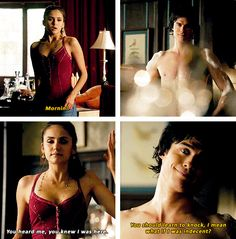 "Damon (and Ian) loves to shock her/ Ian taped elephant ears to his naked legs to get a ""real"" reaction from Nina"