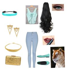 """""""In honor of Disney's 60th anniversary: princess Jasmine"""" by richie96 on Polyvore featuring Topshop, malo, Aurélie Bidermann, KOTUR, Fiebiger, women's clothing, women, female, woman and misses"""