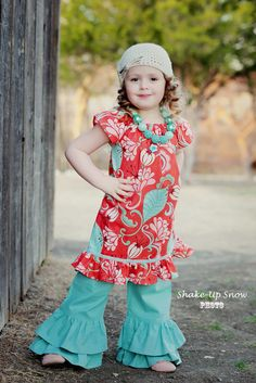 LAST TWO  Girls Spring Dress  Orange Floral by EmmiLeeDesigns, $36.00