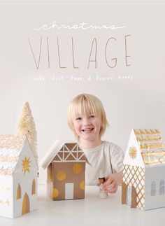 How to make a Christmas Village with Duct Tape and Tissue Boxes!