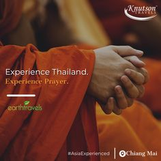 Experience the prayer with a Buddhist monk on our Thailand tours!