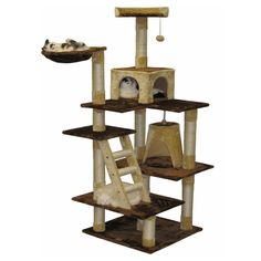 Have to have it. Go Pet Club Brown and Beige Cat House Furniture - 72 in. - $116.09 @hayneedle