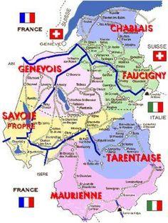 OTH 760 - carte de Savoie et de ses différentes sous-régions.