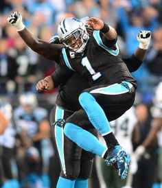 Cam Newton Shaking a little booty.... Love our Carolina Panthers