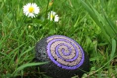 Another beautiful stone from my 365 rock a day project 2011. Painted Feb 25th - three years ago today...