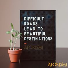 Strade difficili portano a belle destinazioni Part Time, Kahlil Gibran, Letter Board, Einstein, Lettering, Instagram Posts, Quotes, Quotations, Drawing Letters
