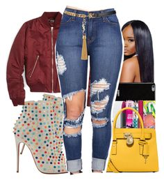 """""""Planet Hollywood Tonight !!!!! """" by shamyadanyel ❤ liked on Polyvore featuring Christian Louboutin, Topshop, Givenchy, Michael Kors and Yves Saint Laurent"""