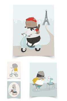 Petit Pippin prints - Paul & Paula