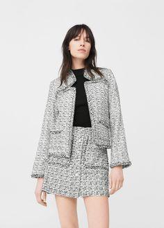 Tweed jacket - Women | MANGO USA