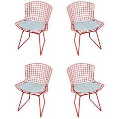 Set of Four Bertoia Chairs