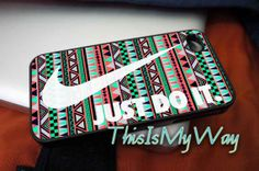 #iphone #case #cover #protector #iphone_case #plastic #design #custom #funny #cute #Nike #Just_Do_It_on_Aztec