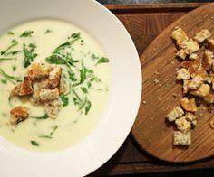 Porre, kartoffel og rucola suppe - opskrift