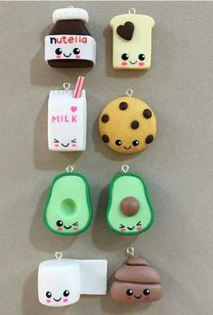 things to make with clay ARTE COM QUIANE - Paps e Moldes de Artesanato : Inspirao comidinhas em Biscuit Fimo Kawaii, Polymer Clay Kawaii, Polymer Clay Charms, Polymer Clay Disney, Kawaii Diy, Polymer Clay Miniatures, Polymer Clay Projects, Polymer Clay Creations, Kids Crafts