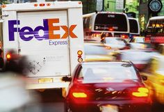 FedEx Express vehicle in NYC, USA