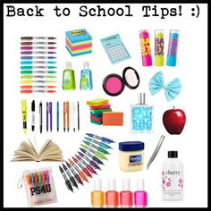"""""""TONS of Back to School Tips :)"""" by lillyrenee ❤ liked on Polyvore"""