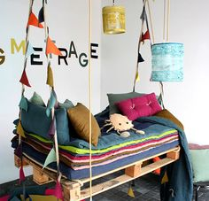Kids' Rooms Designed for Play / we did this for our son, and it came out amazing, and he loves it!