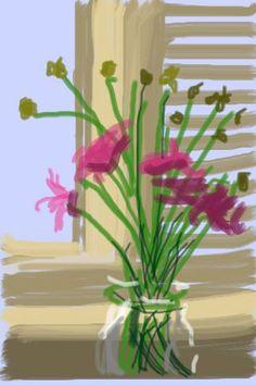 David Hokney, Iphone drawing, circa 2010