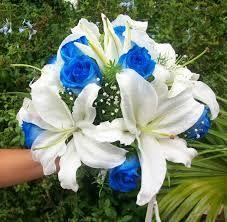 Resultado de imagen para ramos de novia de novia en azul