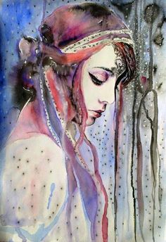 Gorgeous muted #watercolor #art