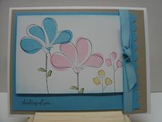 Awash With Flowers; Thinking of You Cards