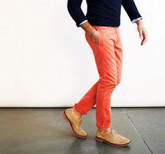 Classic, bold color. #mensfashion
