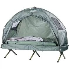 Amazon.co.uk K&-Rite Double Tent Cot  sc 1 st  Pinterest & Outsunny Pop Up Tent Cot with Air Mattress and Sleeping Bag Combo ...