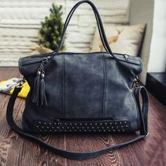GET $50 NOW | Join RoseGal: Get YOUR $50 NOW!http://m.rosegal.com/tote/tassel-rivet-pu-leather-tote-734154.html?seid=10187513rg734154