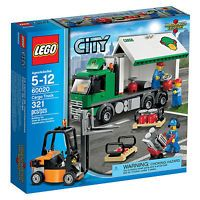 Lego® City Set 60020 Cargo Truck Lorry Forklift Pallets 3 Minifigures Retired