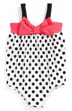 Love U Lots One-Piece Bubble Swimsuit (Baby Girls)