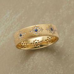 "Ring   Adel Chefridi. ""Yasmina"". 18k gold, sapphires and diamonds"