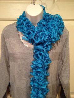 Boutique Sashay Turquoise Ruffle Scarf on Etsy, $18.00