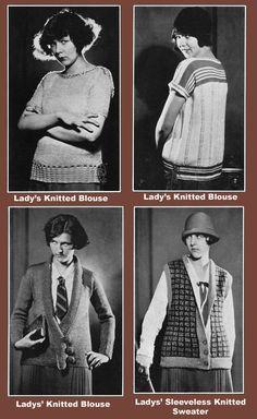 Minerva 19 c.1924 Vintage Style Knitting & Crochet by ivarose