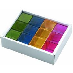 WePlay Creative Play Interaction - Rainbox Crystal Blocks (12-Pieces) 23 quid