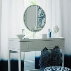 Mirrors and Glass: Use a concoction of 1/4 cup white vinegar, 1 tablespoon cornstarch, 2 cups warm water. Spray and wipe down with newspaper.