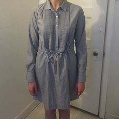 J.Crew jeans drawstring dress Jean look. Drawstring dress J. Crew Dresses