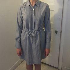 J.Crew jeans drawstring dress Jean look. Drawstring dress J. Crew Dresses