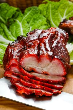 Char siu is succulent, sticky-sweet roast pork that's easy to make using a combination of the Instant Pot and oven. It is delicious on rice or in bao. Char Sui Pork, Char Siu Sauce, Char Siu Pork Recipe, Bbq Pork Tenderloin, Bbq Roast, Pork Tenderloins, Roast Pork Rice, Roast Brisket, Pork Chops