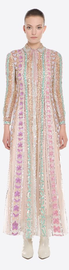 Valentino Designer Clothing, Valentino, Runway, Cover Up, Pastel, Tunic Tops, Dresses With Sleeves, Long Sleeve, Fashion Design
