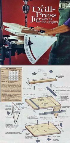 Drill Press Angle Jig - Drill Press Tips, Jigs and Fixtures | WoodArchivist.com