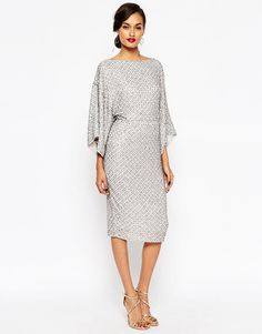 ASOS RED CARPET Sequin Grid Kimono Midi Dress This Dress is so fabulous a specially the back.