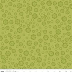 Emily Taylor for Riley Blake Designs - VERONA - FLOWERS In GREEN - Cotton Fabric