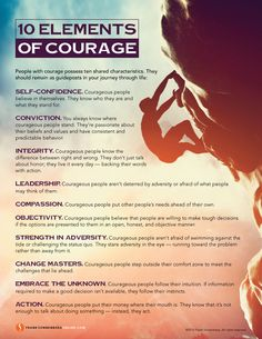 "People with courage possess 10 characteristics. They should remain as guideposts in your journey through life. The Elements of Courage"" is a free poster Leadership Values, Leadership Characteristics, Leadership Quotes, Brene Brown Quotes, Motivacional Quotes, Life Quotes, Ignorance, Leader Quotes, Self Improvement"